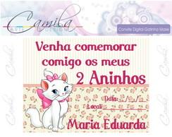 Convite Digital Gatinha Marie