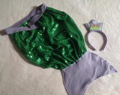 Kit Rabo de sereia + arco Ariel