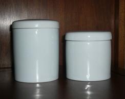 Potes para kit higiene algodao cotonete