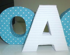 Letra 3D - Sem Tema