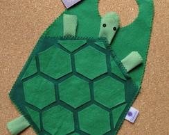 Lixeira plastificada - tartaruga feltro
