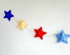 Cord�o de Estrelas COLORS Feltro