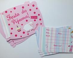 10 Convites Festa do Pijama Travesseiro
