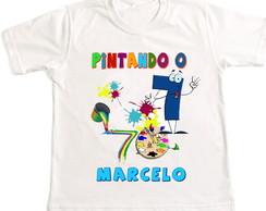 camiseta pintando o sete