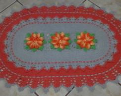 Tapete Oval Flor Mosquitinho de Bico