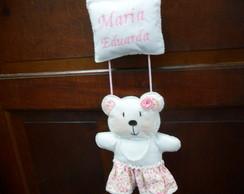 Enfeite De Porta - Maternidade Urso Rosa