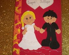 Caderno de mensagens para os noivos.