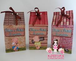 Caixa De Leite Tr�s Porquinhos