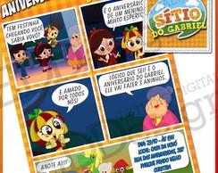 Arte Convite Gibi S�tio Pica-Pau Amarelo