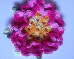 Flor de croch� p/ confec��o de tapetes