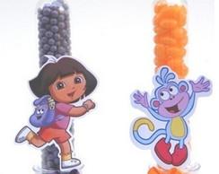 Tubetes para doces Dora Aventureira