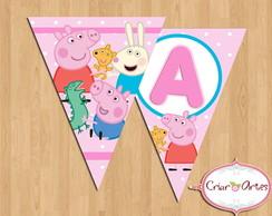 Bandeirinha Peppa Pig e sua turma 1