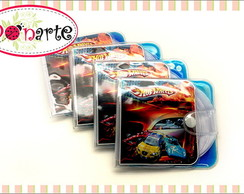 Porta CD Gel Colorido Hot Wheels