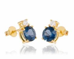 Brincos Even - Ouro, pedra, diamante