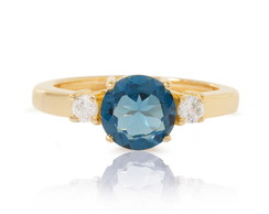 Anel Even - Ouro, topazio, diamantes