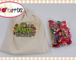 Sacolinha de Tecido Plants vs Zombie