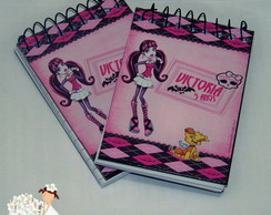 Mini bloco de anota��es monster high