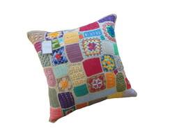 Almofada de Croch� Patchwork