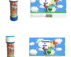 Rotulo Bolinha de Sab�o Mario Bros