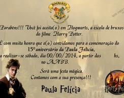 Convite Harry Potter 6