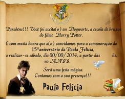 Convite Harry Potter 7