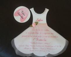 Convite bailarina personalizado
