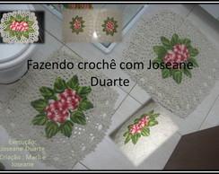 jogo floral quadrado 3 p�s