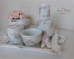 Kit higiene porcelana floral