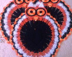 Jogo de Banheiro Corujinha em Croche