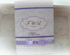 Card�pio personalizado para casamento