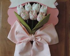 Enfeite porta de maternidade tulipas