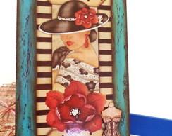Quadrinho Decorativo Madame Francesa