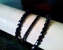 Pulseira cristais pretos