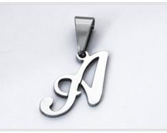 Pingente Letras em A�o Inox Antial�rgico
