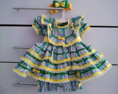 vestido caipira para beb�
