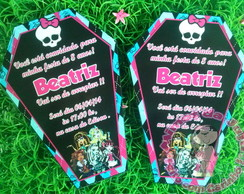 Convite Monster High tipo caix�o