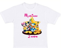 Camiseta turma do Mickey
