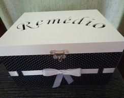 Caixa de Rem�dio Preto e branco