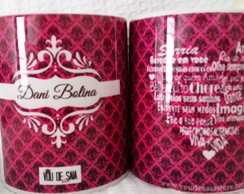 Caneca Personalizada Para Dani Bolina