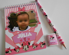 Kit Bloquinho c/ L�pis e Borracha Minnie