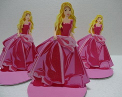 Kit enfeite de mesa Barbie com 10