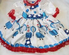 Vestido de Caipira - Galinha Pintadinha