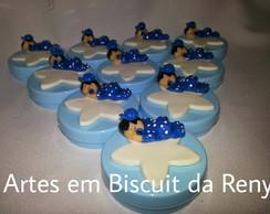 Latinhas com Bonequinhas de biscuit