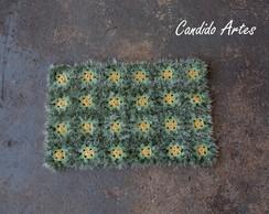 Tapete De Croch� flores e grama
