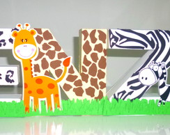 Letras 3D - Tema Safari/Mickey