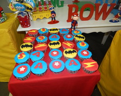 Cup Cakes Super Herois
