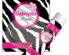 Kit digital zebra e pink com p�rolas