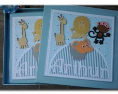 Livro Do Beb� Com Caixa tema Safari