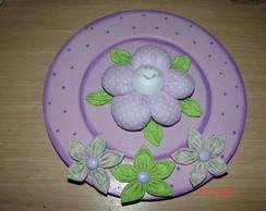 Placa/guirlanda flor lilas