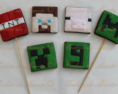 Cookies Decorados - Minecraft